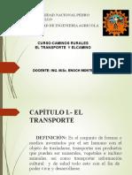 Caminos EL Transporte Y El Vehìculo.ppt