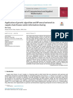 Application of genetic algorithm and BP neural network in supply chain finance under information sharing