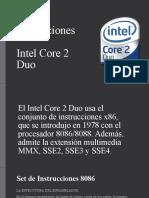 Set de Instrucciones intel core 2 duo