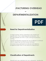 Departmentalized Factory Overhead