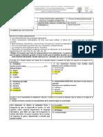 8vo  Respuestas SEGUNDO PARCIAL PRIMER QUIMESTRE lENGUA LITERATURA Diciembre 2019