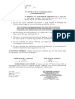 Joint Affidavit of Consolidation