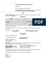 DEED OF ABSOLUTE SALE OF A PARCEL OF LAND-DAR