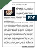 lectura comprensiva MIguel de Cervantes