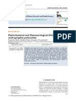 Phytochemical and Pharmacological Studies on Andrographis paniculata