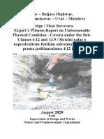 20200815 Suvovara Bridge - Expert's Witness Report - Claim No. 054 - Rev01