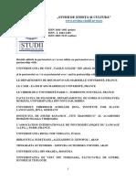 """Prezentare revistă """"Studii de Știință și Cultură"""""""