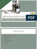 Beta Blocker Toxicity PPT