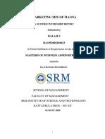 BALAJI S ( SUMMER INITERNSHIP REPORT) MAGNA