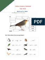 Birds class 1(29-9-20)