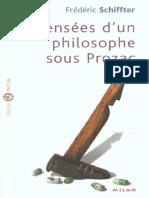 Schiffter, Frédéric - Pensées d'un philosophe sous Prozac