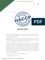 APPCC _ Certificaciones de Calidad y Seguridad Alimentarias