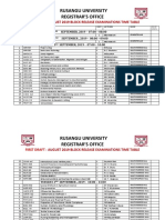 AUGUST 2019 EXAMINATIONS TIME TABLE