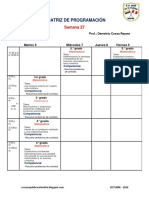 Matriz de Programacion de Matematica Semana 27 Ccesa007