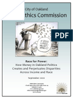 2020 Oakland Public Ethics Commission Report On Money And Political Power