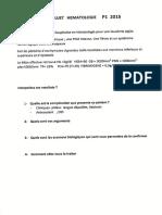 Hématologie - Examen théorique - P1 2014-2015 (1)