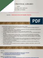 DERECHO PROCESAL AGRARIO  POWER POINT
