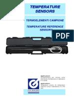 Sensor with standard thermocouple K - N - S