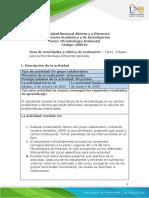 Guía de actividades y rúbrica de evaluación Tarea 3- Bases para la microbiología ambiental aplicada