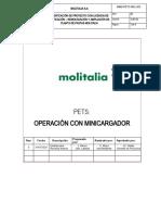 003 PETS Operación con Minicargador