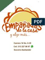 CARTA EMPANADAS DE LA CASA