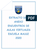 EXTRACTO DEL ANEXO DE ENCUENTROS DE AULAS VIRTUALES 28 DE AGOSTO