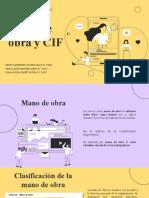 Presentación mano de obra y cif