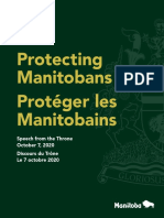 Protecting Manitobans - Speech From the Throne