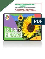 Guía de aplicación - Estímulos y Respuestas en plantas y en animales 8-2