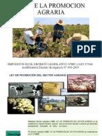 LEY DE LA PROMOCION AGRARIA 27360