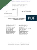 US v Flynn - motion to disqualify Judge Sullivan