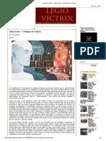 LEGIO VICTRIX_ Julius Evola - A Religião da Ciência