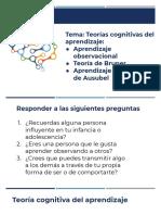 Tema. Teorías cognitivas del aprendizaje