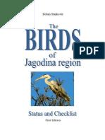 The Birds of Jagodina Region - Status and Checklist