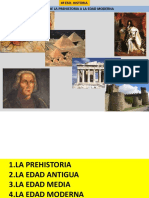 De la Prehistoria a la Edad contemporánea