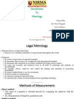 Introduction to metrology_