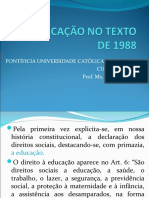 A EDUCAÇÃO NO TEXTO DE 1988