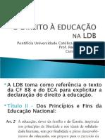 O DIREITO À EDUCAÇÃO NA LDB
