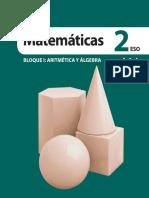 2ESO. Matemáticas. edebé BLOQUE I_ ARITMÉTICA Y ÁLGEBRA
