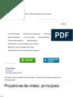 Projetores de vídeo_ principais características