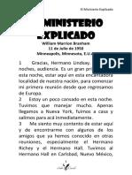 50-0711 EL MINISTERIO EXPLICADO HUB