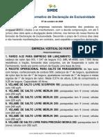 IDE 008/20 Informativo de Declaração de Exclusividade  Vertical do Ponto 07.10.2020