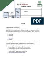 Parcial -COLEGIADA. P. J .Profa.  M. Alzenir 1NNA - 16.06
