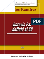 OCTAVIO PAZ 68 Carlos Ramírez