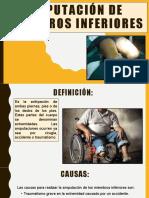 AMPUTACIÓN DE MIEMBROS INFERIORES
