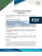 Guía de actividades y Rúbrica de evaluación - Tarea 3 - Enzimología y Bioenergética