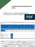 Análisis de las condiciones agropecuarios en la Región Huánuco
