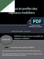 Revenus et profits des capitaux mobiliers