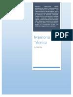 MEMORIA TECNICA PLOMERIA