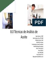 8 Tecnicas de Analisis de Aceite - Presentacion